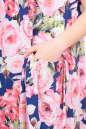 Летнее платье  мешок синего с розовым цвета No3 интернет-магазин vvlen.com