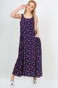 Летнее платье балахон темно-синего цвета No1|интернет-магазин vvlen.com
