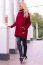 Худи оверсайз бордового цвета с капюшоном 2349.70 No2|интернет-магазин vvlen.com