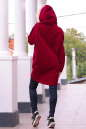 Худи оверсайз бордового цвета с капюшоном 2349.70 No3|интернет-магазин vvlen.com