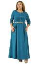 Платье с расклешённой юбкой морской волны цвета 2299.41  No0|интернет-магазин vvlen.com