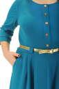 Платье с расклешённой юбкой морской волны цвета 2299.41  No3|интернет-магазин vvlen.com