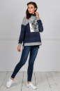 Спортивная кофта джинса цвета kl  177 No2 интернет-магазин vvlen.com