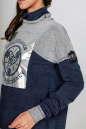 Спортивная кофта джинса цвета kl  177 No4 интернет-магазин vvlen.com