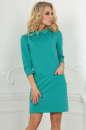 Офисное платье футляр мятного цвета 2494.47|интернет-магазин vvlen.com