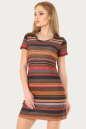 Спортивное платье  оранжевого с коричневым цвета 224br No0|интернет-магазин vvlen.com