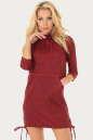 Спортивное платье  бордового цвета No0|интернет-магазин vvlen.com