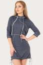 Спортивное платье  синего цвета No0|интернет-магазин vvlen.com