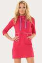 Спортивное платье  малинового цвета 194br No0|интернет-магазин vvlen.com