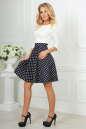 Повседневное платье с расклешённой юбкой синего с белым цвета 2281.45d5 No1|интернет-магазин vvlen.com