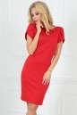 Повседневное платье футляр красного цвета 2504.47|интернет-магазин vvlen.com