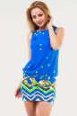 Летнее платье с открытой спиной голубого тона цвета No0|интернет-магазин vvlen.com