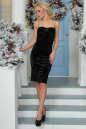Коктейльное платье-комбинация черного цвета 996-1.22 No1|интернет-магазин vvlen.com