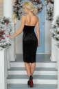 Коктейльное платье-комбинация черного цвета 996-1.22 No2|интернет-магазин vvlen.com