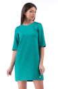 Повседневное платье футляр бирюзового цвета 2232.75-3|интернет-магазин vvlen.com