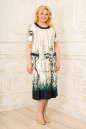Платье белого с синим цвета 2334.5 d22 |интернет-магазин vvlen.com