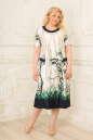 Платье белого с синим цвета 2334.5 d22 No1|интернет-магазин vvlen.com