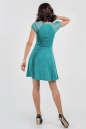 Коктейльное платье с расклешённой юбкой бирюзового цвета No2|интернет-магазин vvlen.com