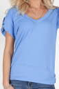 Женская футболка голубого цвета  No1|интернет-магазин vvlen.com