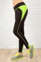 Лосины для фитнеса черного с зеленым цвета No0|интернет-магазин vvlen.com
