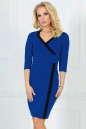 Офисное платье футляр электрика цвета|интернет-магазин vvlen.com