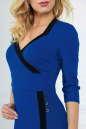 Офисное платье футляр электрика цвета 1879-1.47 No4 интернет-магазин vvlen.com