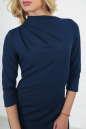 Офисное платье футляр темно-синего цвета 2505.47 No5 интернет-магазин vvlen.com