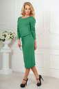 Повседневное платье футляр зеленого цвета 2478.65 No2|интернет-магазин vvlen.com