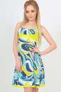 Летнее платье с расклешённой юбкой голубого тона цвета 459.22 No0|интернет-магазин vvlen.com