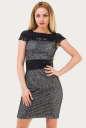 Летнее платье с открытой спиной черного цвета 1009.12 No0|интернет-магазин vvlen.com
