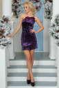 Коктейльное платье-комбинация сиреневого цвета|интернет-магазин vvlen.com