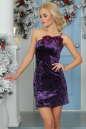 Коктейльное платье-комбинация сиреневого цвета 1000.22 No1|интернет-магазин vvlen.com