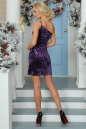 Коктейльное платье-комбинация сиреневого цвета No2|интернет-магазин vvlen.com