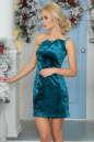 Коктейльное платье-комбинация морской волны цвета|интернет-магазин vvlen.com