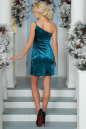 Коктейльное платье-комбинация морской волны цвета 1000.22 No2|интернет-магазин vvlen.com