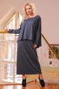 Платье оверсайз серого цвета 2426-41.41 No0|интернет-магазин vvlen.com