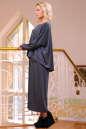 Платье оверсайз серого цвета 2426-41.41 No1|интернет-магазин vvlen.com
