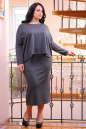 Платье оверсайз серого цвета 2426-41.41 No3|интернет-магазин vvlen.com