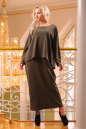 Платье оверсайз хаки цвета No2|интернет-магазин vvlen.com