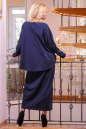 Платье оверсайз синего в горох цвета 2426.47 No2|интернет-магазин vvlen.com