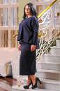 Платье оверсайз синего в горох цвета 2426.47 No3|интернет-магазин vvlen.com