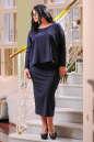 Платье оверсайз синего в горох цвета 2426.47 No4|интернет-магазин vvlen.com