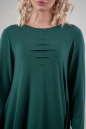 Повседневное платье балахон зеленого цвета No3|интернет-магазин vvlen.com