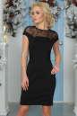 Коктейльное платье футляр черного цвета 2452.47|интернет-магазин vvlen.com