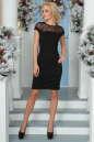 Коктейльное платье футляр черного цвета 2452.47 No1|интернет-магазин vvlen.com
