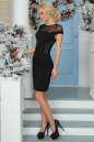 Коктейльное платье футляр черного цвета 2452.47 No2|интернет-магазин vvlen.com