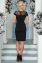Коктейльное платье футляр черного цвета 2452.47 No3|интернет-магазин vvlen.com