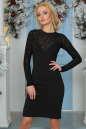 Коктейльное платье футляр черного цвета 2455-1.47 No0|интернет-магазин vvlen.com