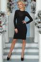 Коктейльное платье футляр черного цвета 2455-1.47 No1|интернет-магазин vvlen.com