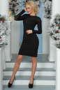 Коктейльное платье футляр черного цвета 2455-1.47 No2|интернет-магазин vvlen.com